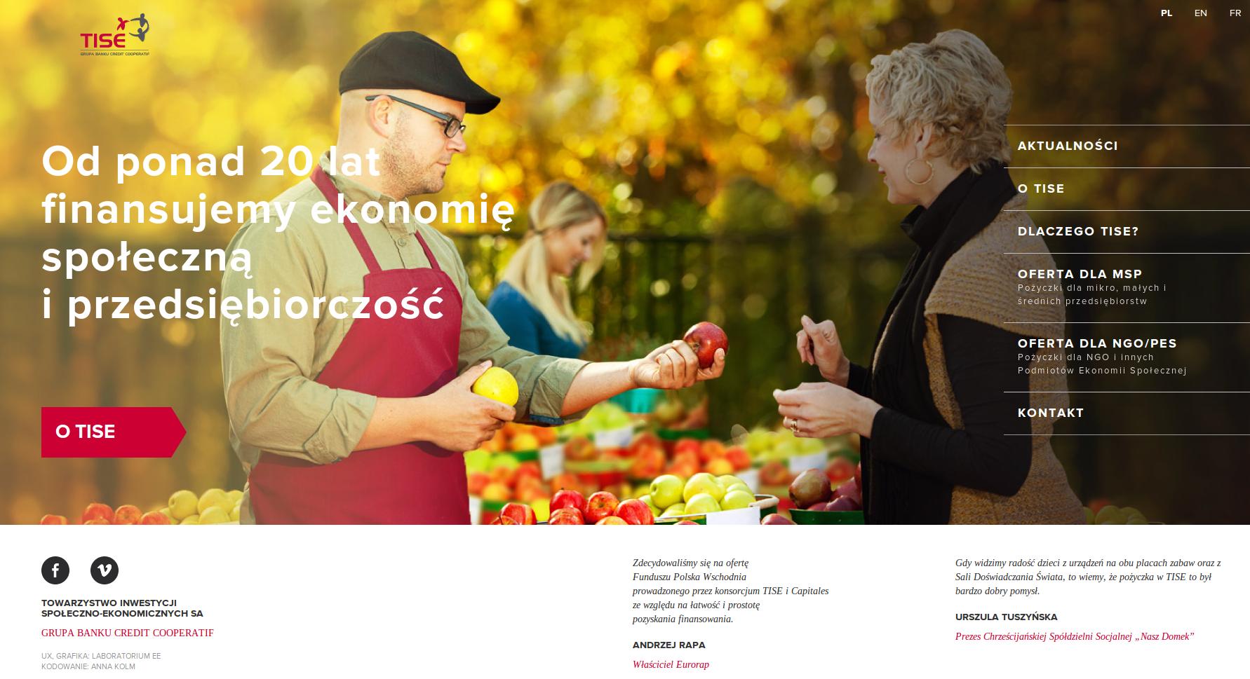 Strona Towarzystwa Inwestycji Społeczno-Ekonomicznych